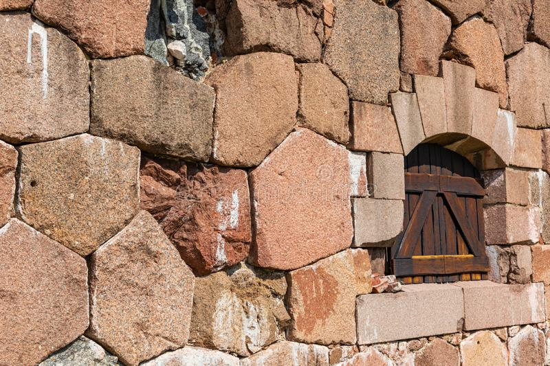 Historical fortified site of Bomarsund. Ruins of fortress. Finland war heritage. Aland islands, Finland. Europe.  stock image