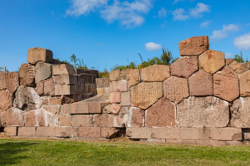 Historical fortified site of Bomarsund. Ruins of fortress. Finland war heritage. Aland islands, Finland. Europe.  stock photo