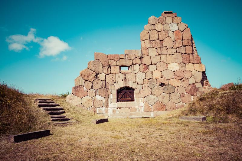 Historical fortified site of Bomarsund. Ruins of fortress. Finland war heritage. Aland islands, Finland. Europe.  stock photos