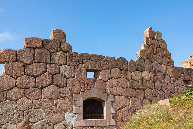 Historical fortified site of Bomarsund. Ruins of fortress. Finland war heritage. Aland islands, Finland. Europe royalty free stock photos