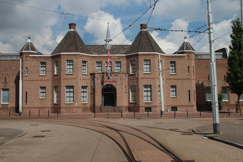 Historical front building of stadium of soccer team Sparta in Rotterdam stock photo