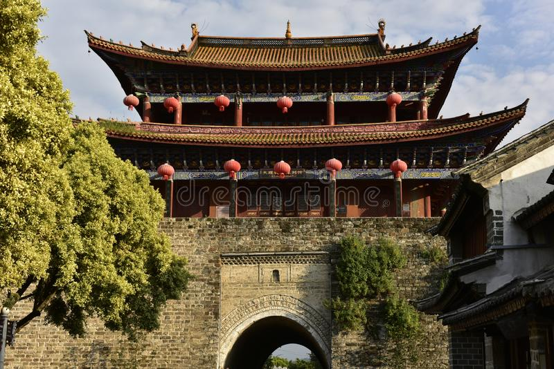 Historical Gate in Dali, Yunnan, China stock images