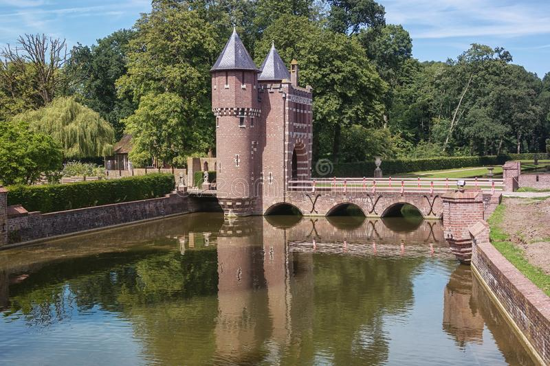 Historical gateway to the castle De Haar in The Netherlands royalty free stock photos