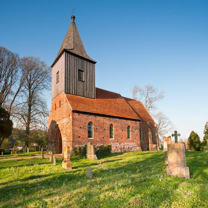 Historical German church in spring stock photos