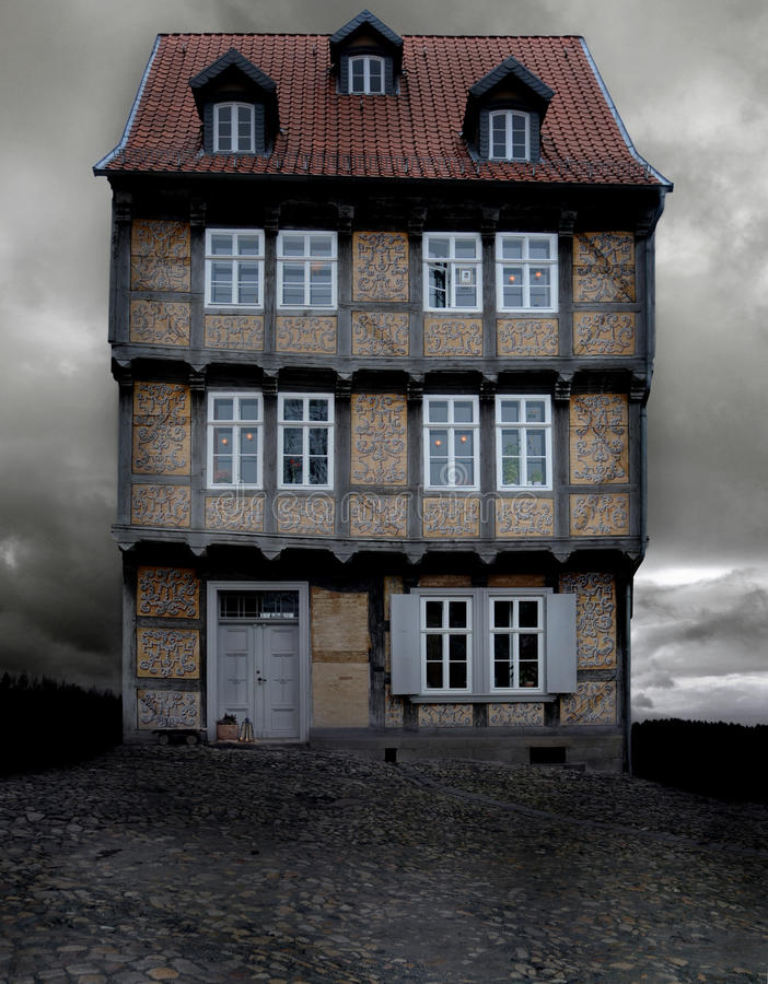 Free Historical German House On A Gloomy Evening Stock Photo - 17080530