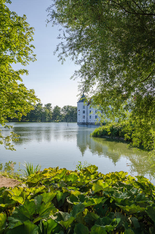 Download Historical German Water Castle Schloss Gluecksburg On A Beautiful Summer Day, Germany Stock Photo - Image of natural, lake: 83700302