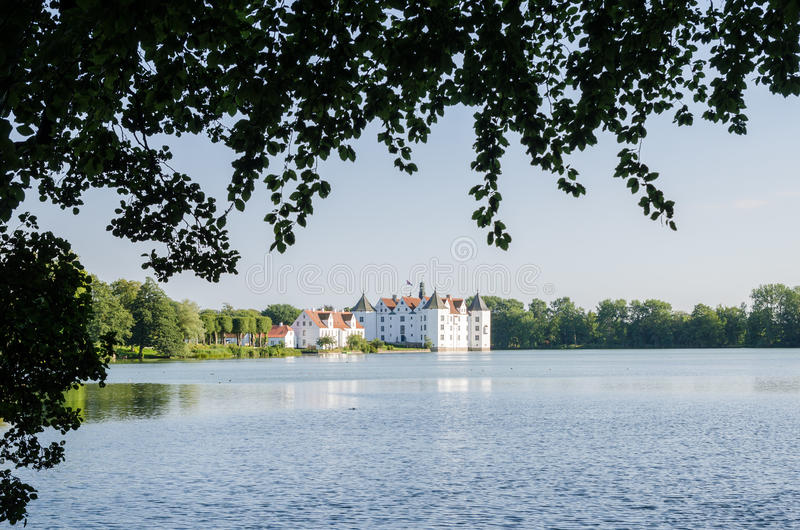 Download Historical German Water Castle Schloss Gluecksburg On A Beautiful Summer Day, Germany Stock Image - Image of green, natural: 83700607