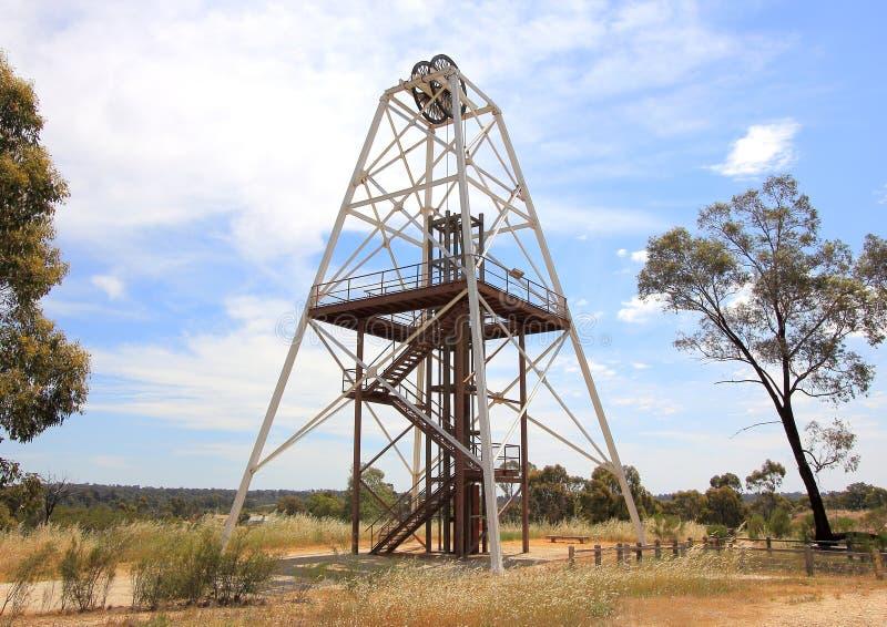 Historical Gold mining poppet royalty free stock photos