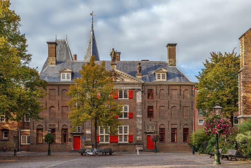 Historical house, Leiden, Netherlands stock images