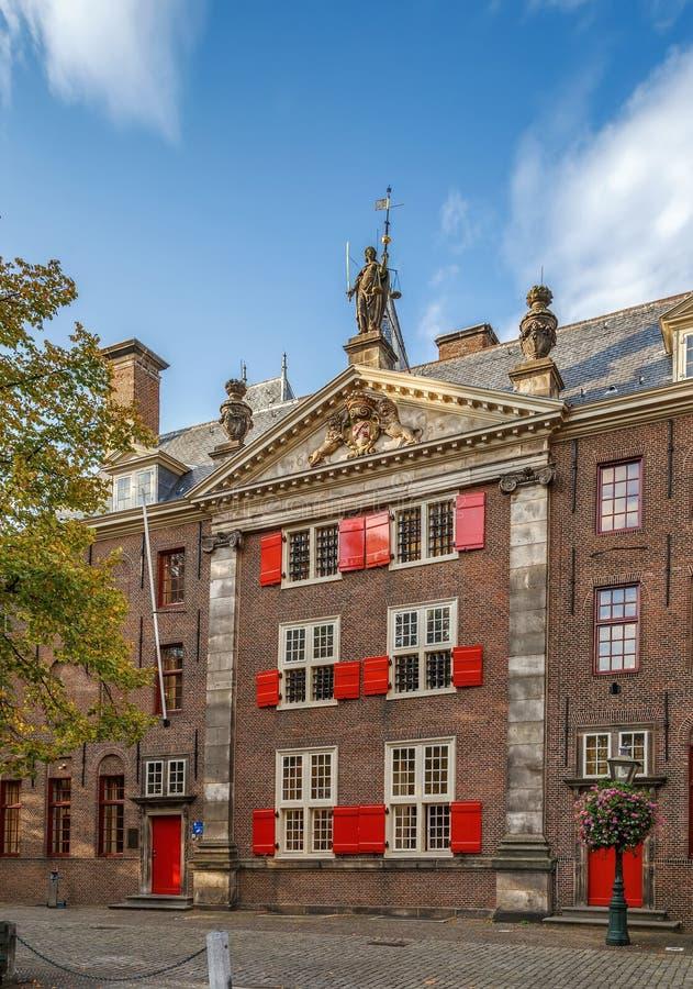 Historical house, Leiden, Netherlands stock photography