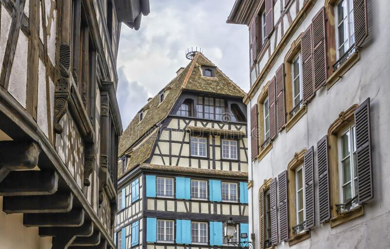 Historical houses in Petite France, Strasbourg royalty free stock image