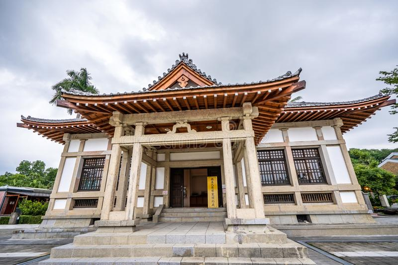 The historical Kendo school, Butokuden Halls Takenori Hall Square, built in Japanese colonial period in Kaohsiung, Taiwan. stock photo