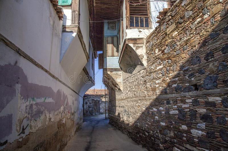 Historical Kula Homes. Kula is a historical town in Manisa, Turkey. Kula`s other name is Burned Land royalty free stock photo