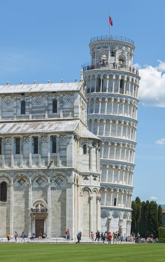 Leaning tower in Pisa, Tuscany, Italy stock photo