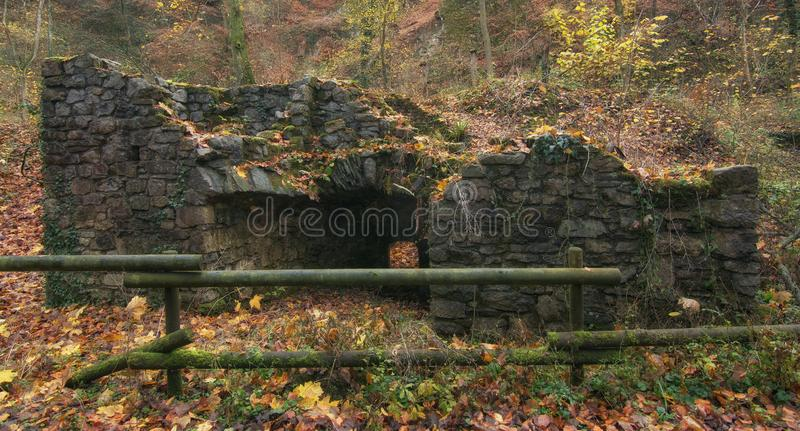Historical Lime works,Neandertal,Germany. Historical Lime works in famous Neandertal,Germany stock photos