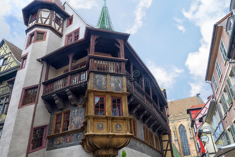 Historical Maison Pfister in Colmar,. France royalty free stock images