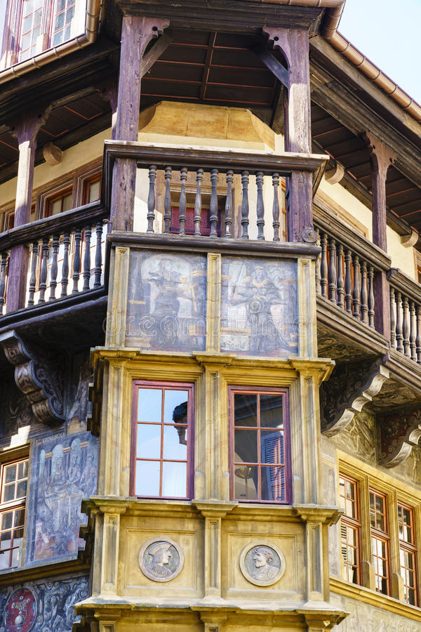 Historical Maison Pfister in Colmar royalty free stock photo