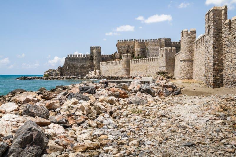 Historical Mamure Castle in Anamur, Mersin, Turkey royalty free stock photos