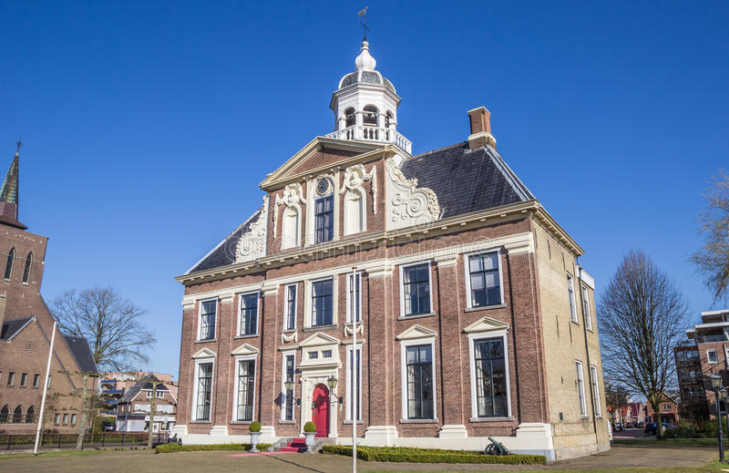Historical mansion Crackstate in the center of Heerenveen. Netherlands stock photos