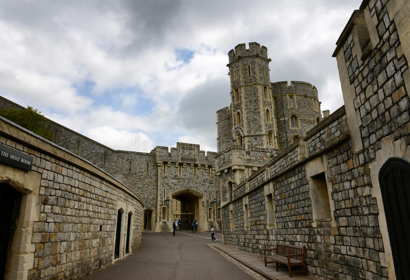 Historical medieval stone building, Windsor Castle stock image