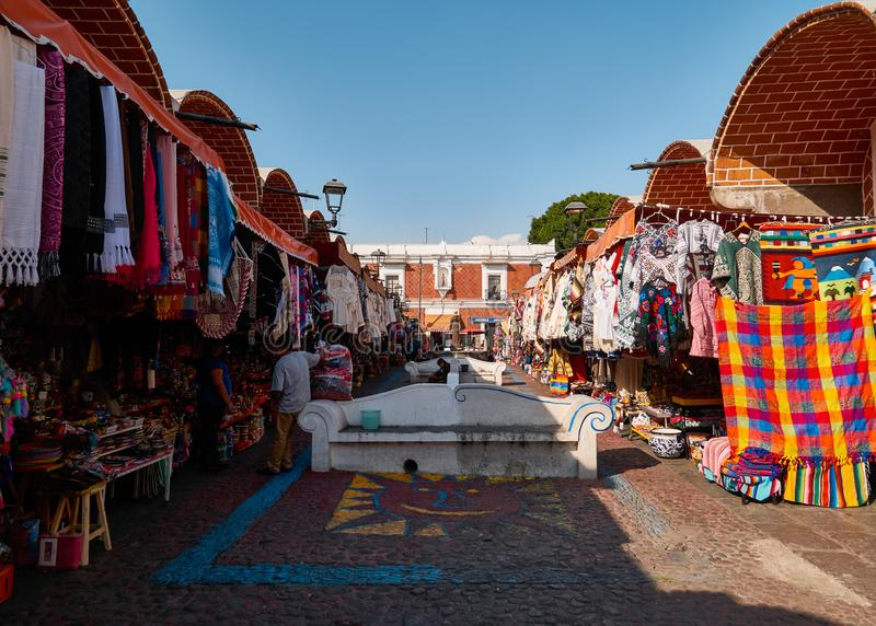 Historical Mexican craft market royalty free stock photos