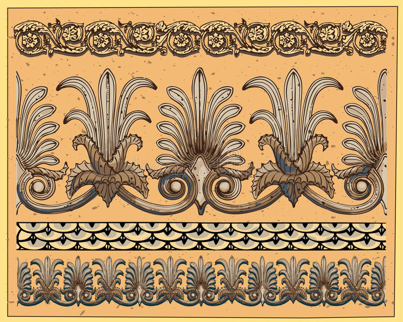 Historical ornaments vector illustration