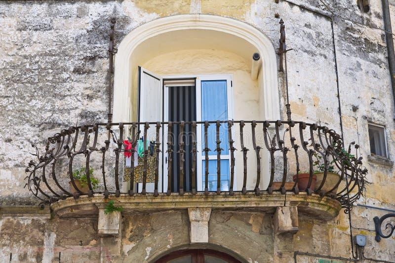 Historical palace. Altamura. Puglia. Italy. Detail of historical palace of Altamura. Puglia. Italy stock photo