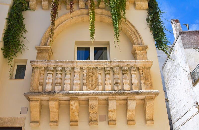 Historical palace. Altamura. Puglia. Italy. Detail of a historical palace of Altamura. Puglia. Italy royalty free stock photo