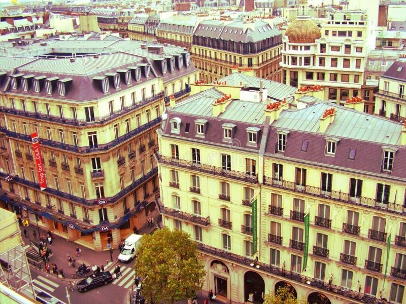 Historical Parisian buildings stock photography