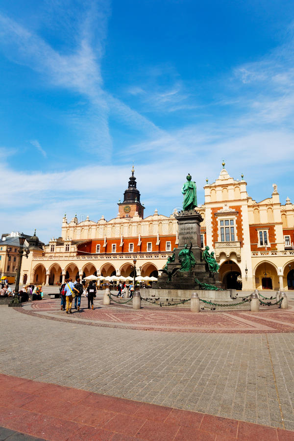 Historical place of Town Hall Tower in Krakow stock photos