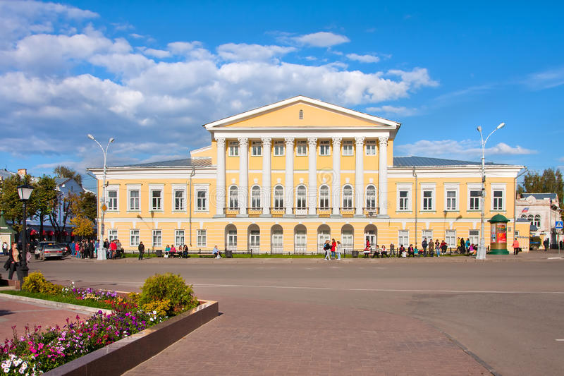 Historical private residence of Kostroma. Kostroma city, Russia. Historical private residence of Kostroma stock photo