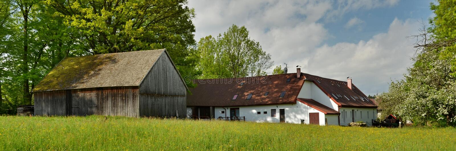 Historical Rural Buildings. In South Bohemia, Czech Republic (2013 royalty free stock photo