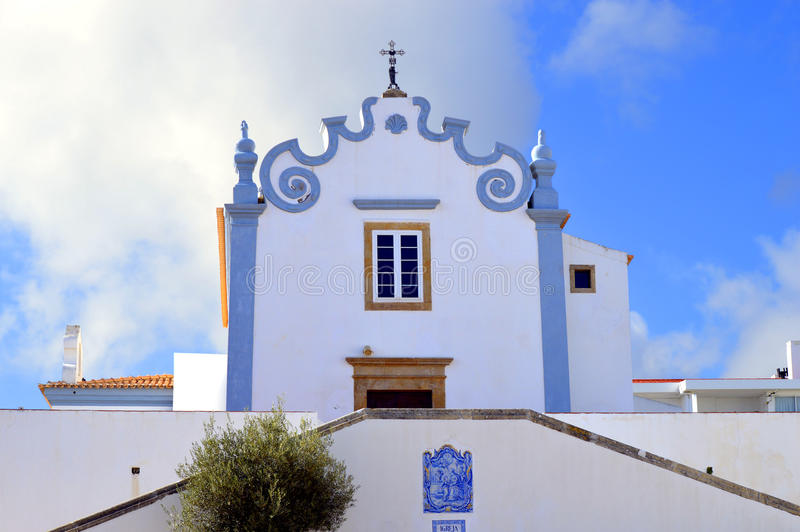 Historical Sant'Ana church in Albufeira old town. Albufeira, Algarve, Portugal - October 26, 2015 : Historical Sant'Ana church in Albufeira old town royalty free stock images