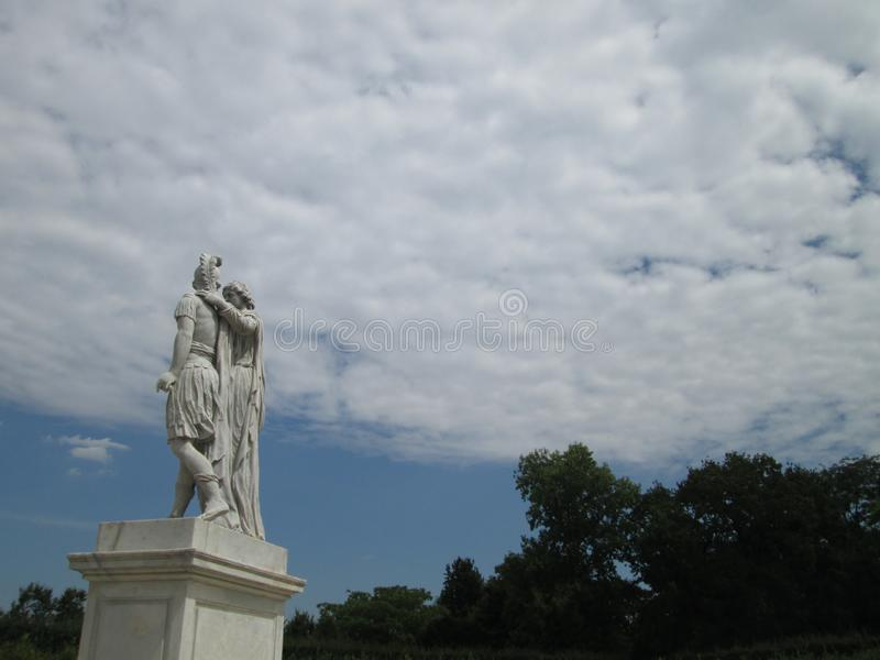 The historical sculpture in Vienna stock image