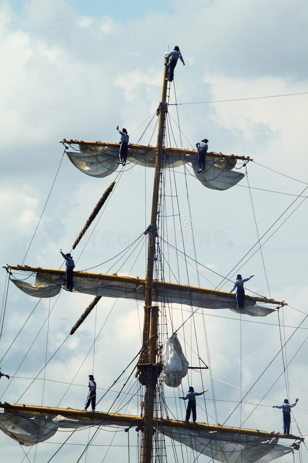 Download HISTORICAL SEAS TALL SHIPS REGATTA 2010 Editorial Stock Image - Image of tackle, sail: 14478399