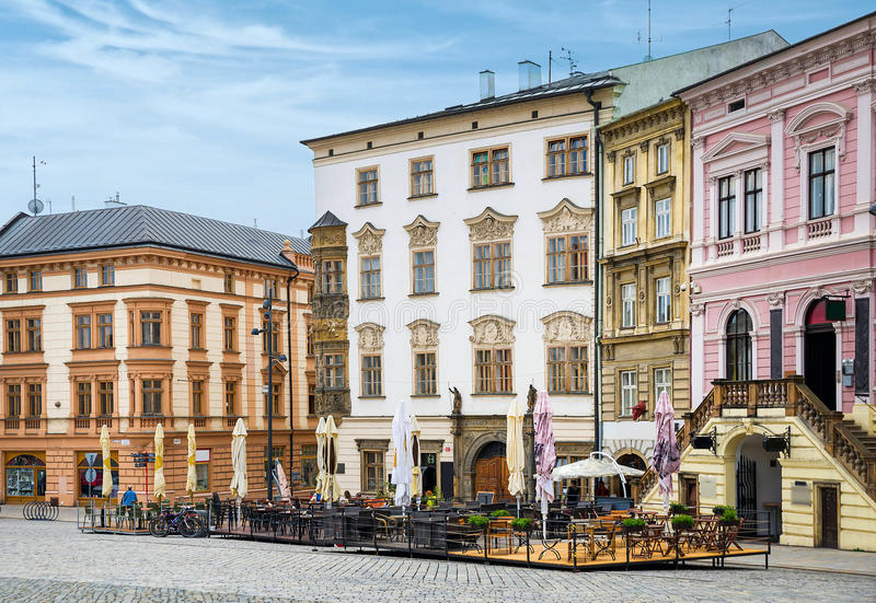 Historical sights of Olomouc. In the Czech Republic. European city stock photos