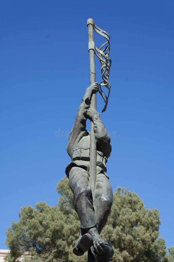 Historical site Umm Rashrash in Eilat, Israel. Monument of famous Ink Flag erection on March 22, 2015 in Eilat, Israel stock photos