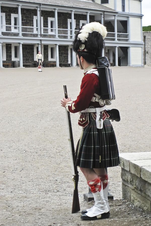 Historical Soldier. A guard on duty at the Citadel in Halifax, Nova Scotia stock photography