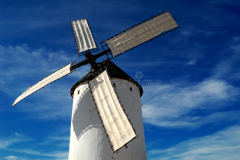 Historical Spanish windmill stock image