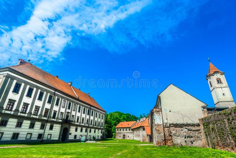 Historical square in Cakovec, Croatia. Scenic view at old square in Cakovec city center, travel destination in Medjimurje, Croatia stock photos