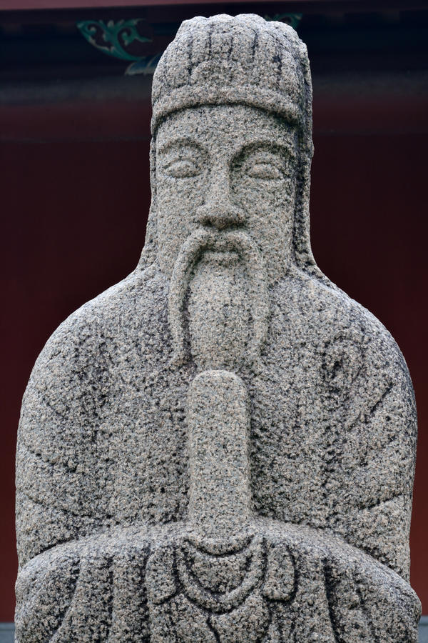 Historical Statue Of Officer In Ancient China Stock Photo