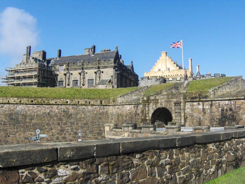 Historical Stirling Castle, Scotland, United Kingdom stock images