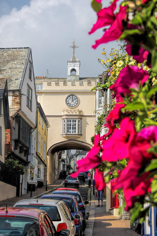 Historical Totnes in Devon, England, United Kingdom. Historical Totnes in Devon, England, UK stock photography