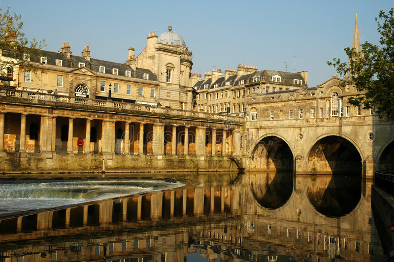Historical town of Bath stock images