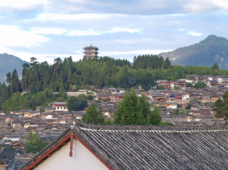 A historical town - Lijiang stock images