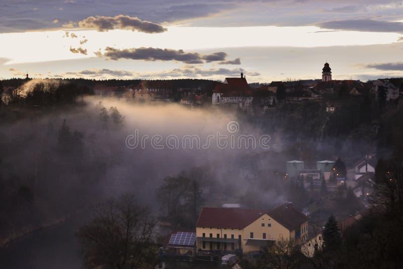 Historical town panorama