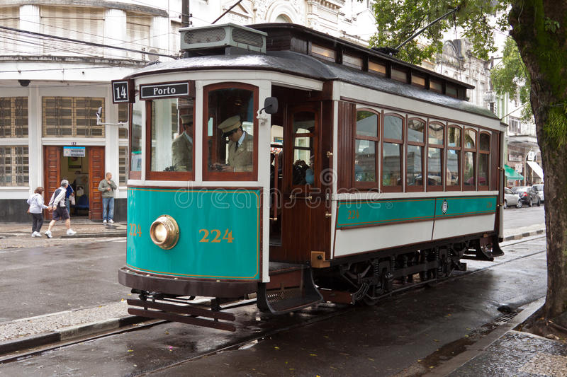 Historical Tram In Santos Brazil Editorial Stock Photo