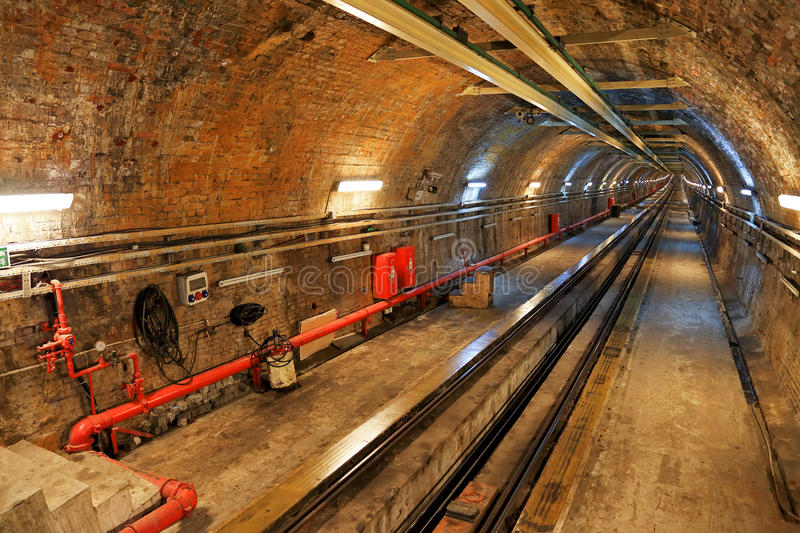 Historical Tunnel Line in Istanbul. Historical and Old Metro Tunnel Line in Istanbul stock photos