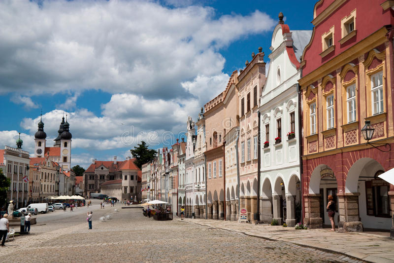 Historical UNESCO town Telč stock photo