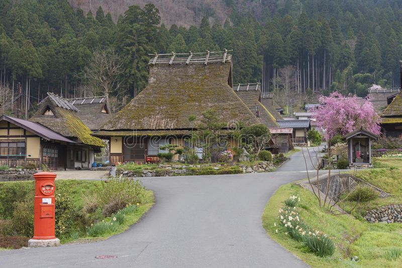 Historical village Miyama in Kyoto, Japan royalty free stock photo